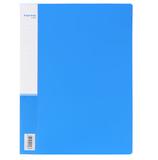 得力5308 A4单长夹文件夹单夹单长压夹文件夹+插袋PP塑料资料夹