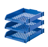 富强FQ439三层文件盘 铁柱文件架 塑料文件栏