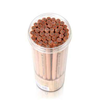 得力(deli)S907 思达原木铅笔 木质筒装铅笔 2B