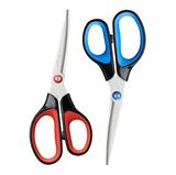 晨光文具剪刀3D不对称手柄防粘钢制防锈办公学习用品ASS91424